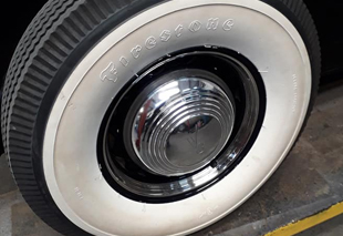 image of a tyre and wheel during a service
